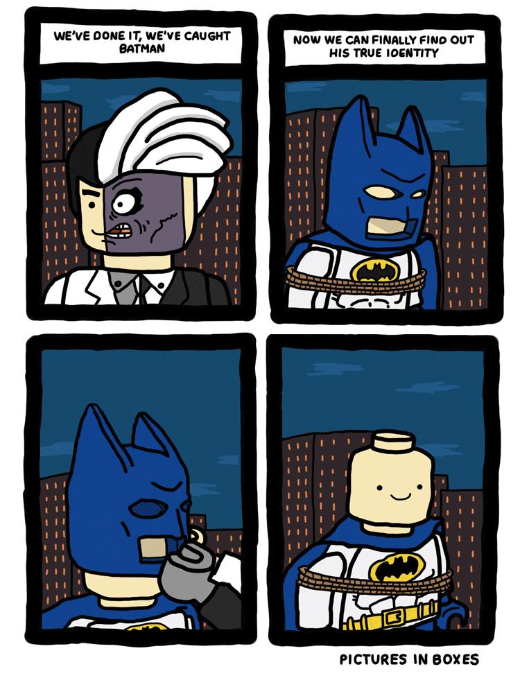 The Unmasking of LEGO Batman