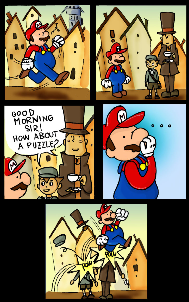 Mario Meets Professor Layton