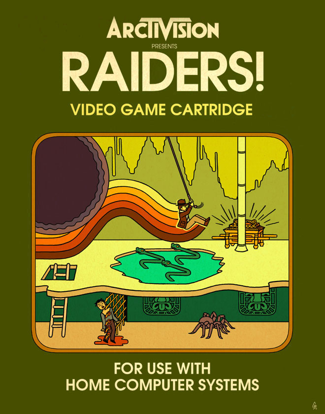 Raiders! Video Game Cartridge