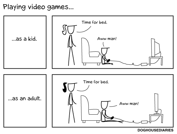 Playing Video Games...