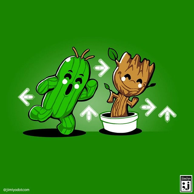 Cactaur and Baby Groot