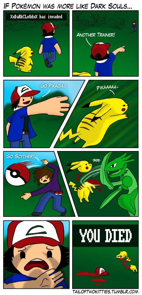 If Pokémon was More Like Dark Souls...