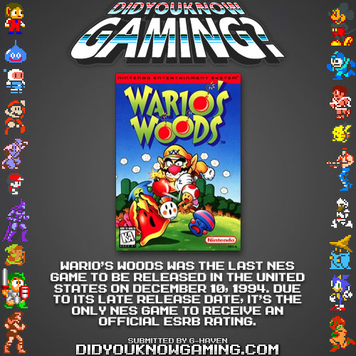 Wario's Woods, Would You?