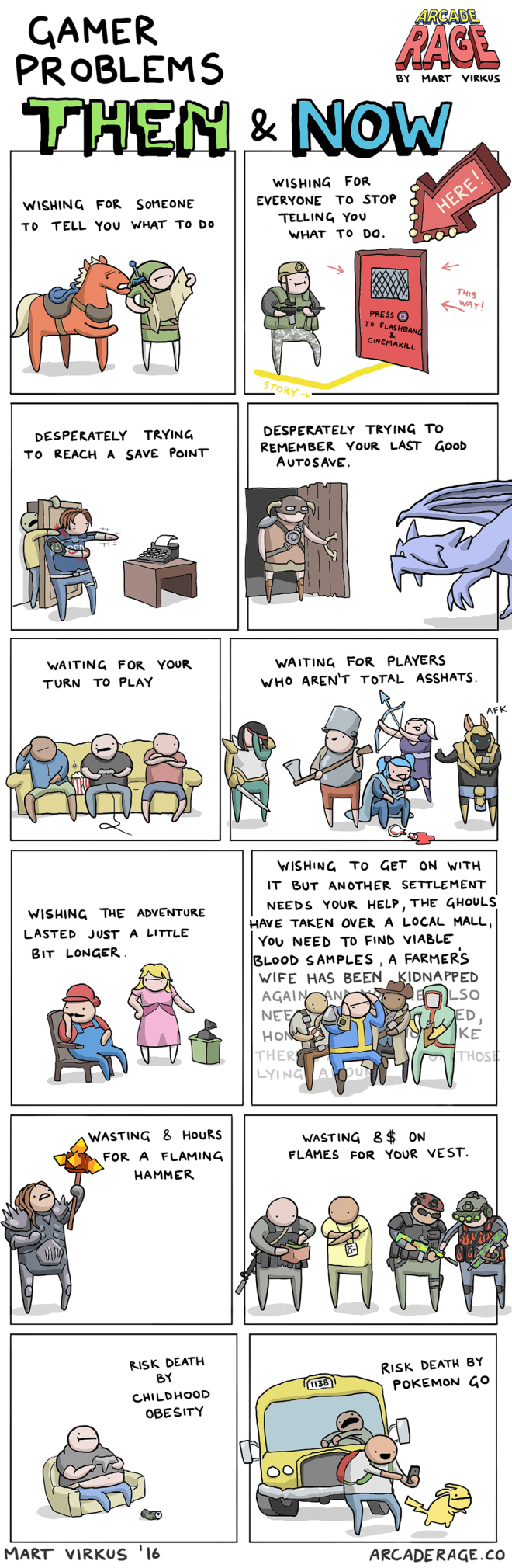 Gamer Problems: Then & Now