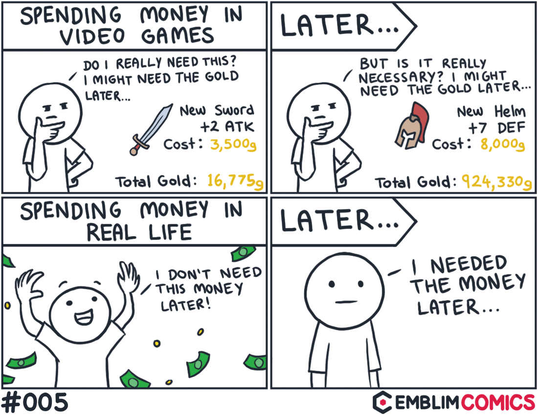 Spending Money in Video Games vs. Real Life