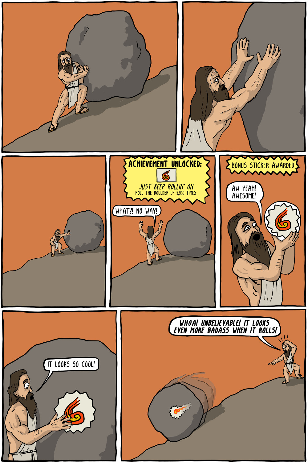 We Must Imagine Sisyphus Happy
